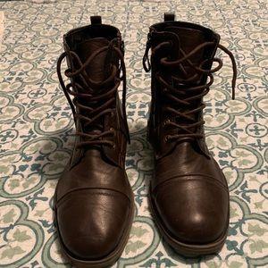 Kohls Mens Captoe Side Zip Brown Boot